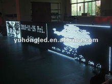 IP65 48x384 Pixels P10 White Color outdoor LED panel sign with CE&ROHS