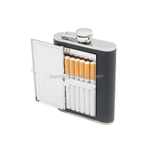 stainless steel cigar hip flask