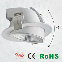 2016 Commercial CE RoHS 13W 18W 25W35W Dimmable Sharp LED COB Downlight, Gimbal Light LED Light Downlight