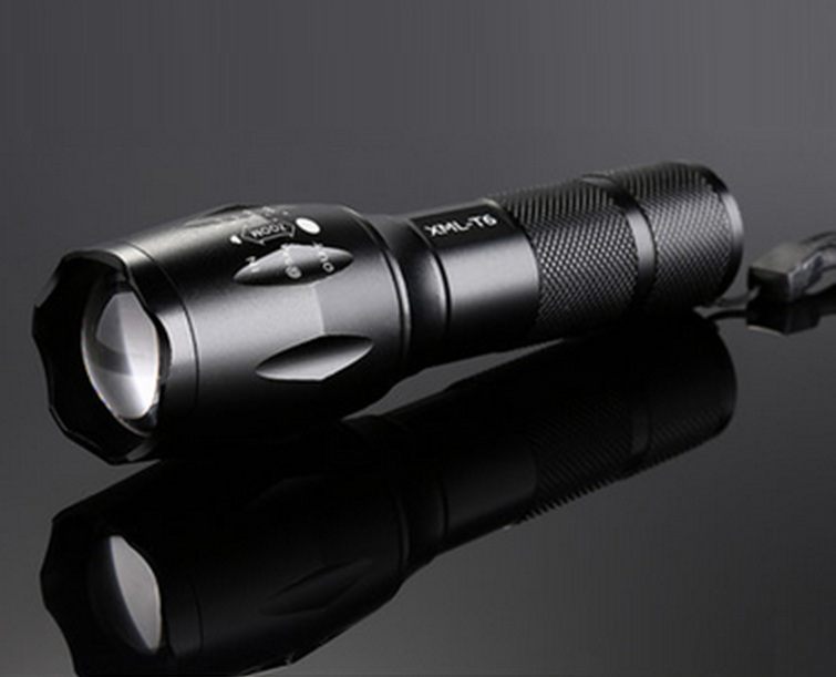 5 Modes Tactical 200 Lumen Rechargeable Aluminum Led Bike Torch