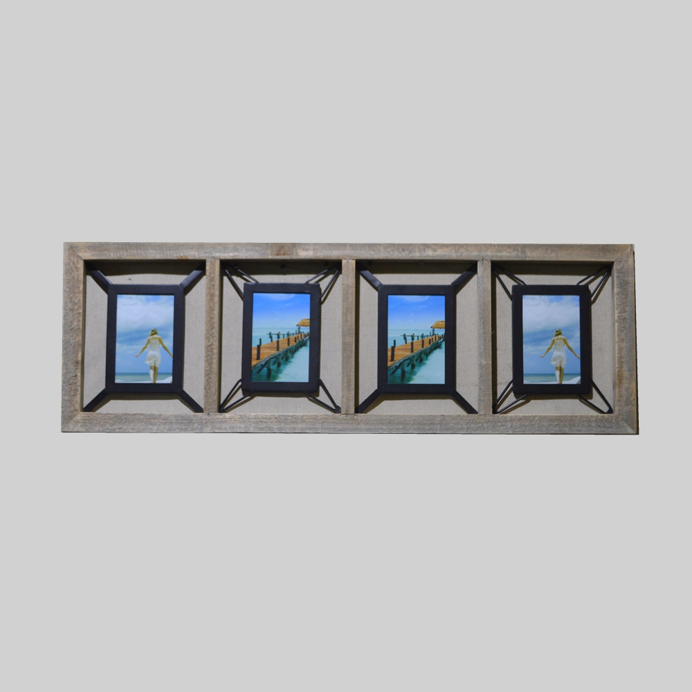 Wholesale A Set of Wooden Multi From Metal Picture Frame for Wall Art