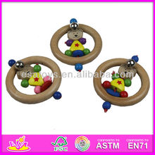 Hot sale high quality wooden mini rattle,toy musical instruments mini rattle,fashion style musical mini rattle set W08K009