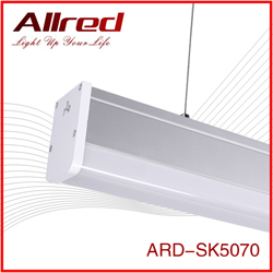 Super bright SMD 2835 aluminum pendant lamp with silver linear light led
