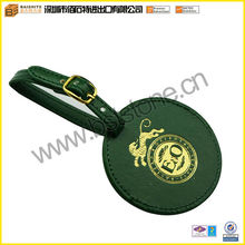 Factory Round Leather Golf Bag Tags With Foil Logo