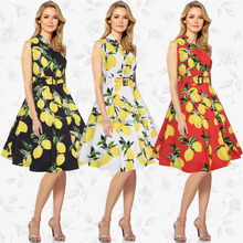 China women's Clothing Manufacturer Latest Design Fashion Sleeveless Printed Casual Dresses