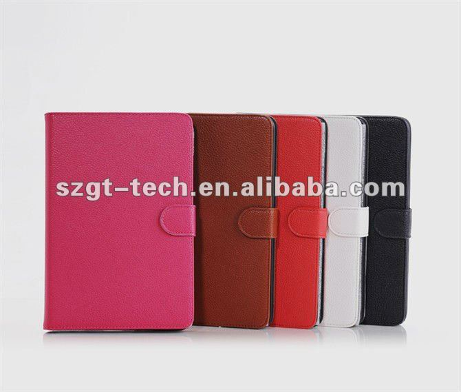 Colorful book leather cases for iPad Mini