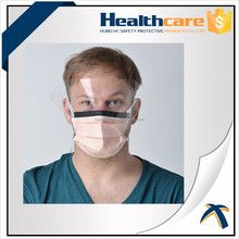 Disposable nonwoven mask with plastic shield