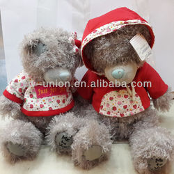 valentine's hot-sale stuffed soft toy plush dressed clothes bear