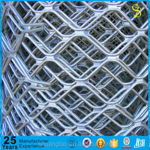 Galvanized beautiful grid wire mesh fence, guarding mesh/expanded grid mesh