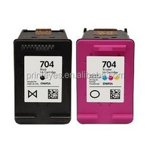 Refilled Inkjet Cartridge for HP 704B/C