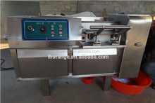 Industrial frozen chicken cold cut processing meat cube cutting machine/ diced goat meat cube