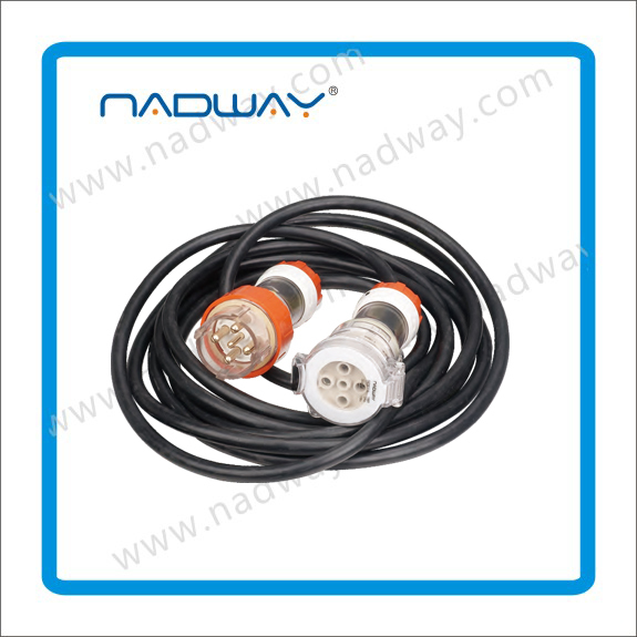Nadway Gray Black and orange Extension Cord passed SAA 250V fused plug power lead made in china