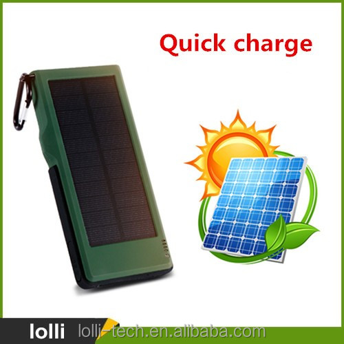 Quickly charge waterproof solar charger 10000mah portable power bank for amazon