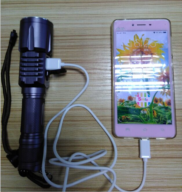 LED rechargeable flash light mobile phone flashlight with keychain S6