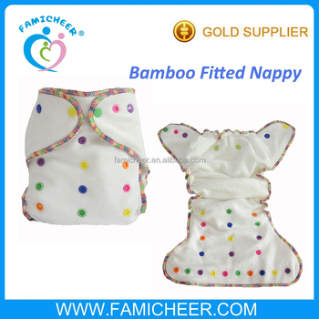 Famicheer Heavy Wetters Rainbow Adjustable Snaps Fitted Nappy