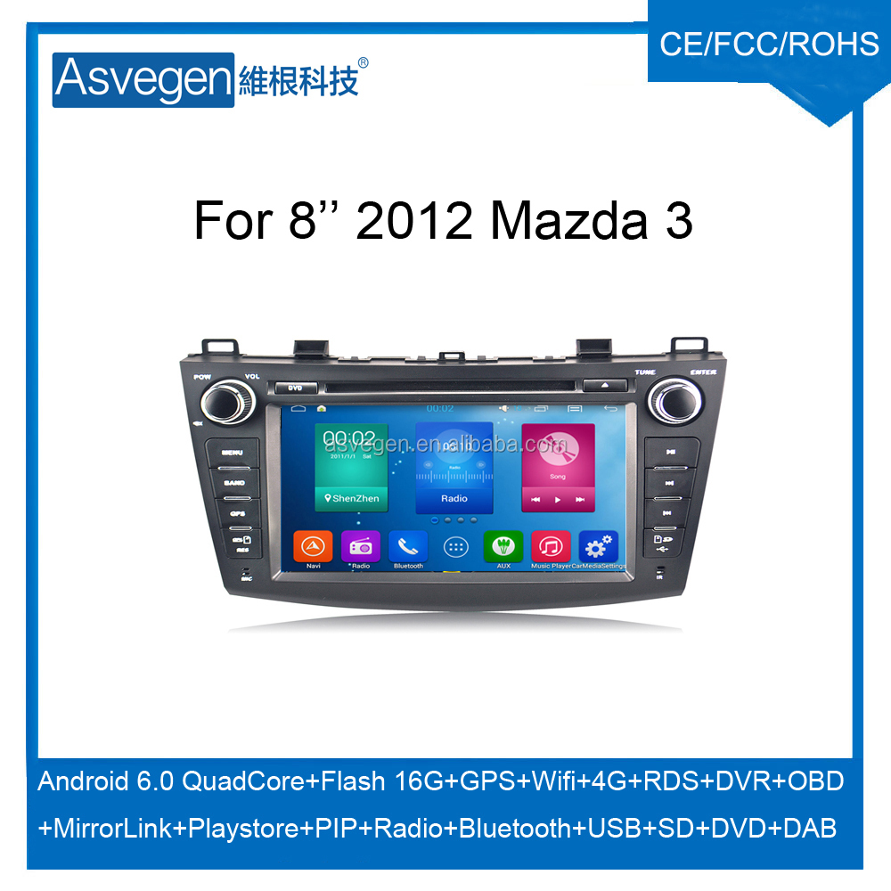 Wholesale Android Car DVD Player For 8'' Mazda 3 2012 Support Radio Wifi Playstore With Auto Spare Parts Car