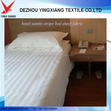 100 cotton satin stripe bed sheet fabrics for hotel bed set