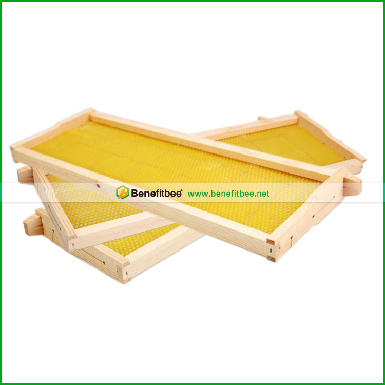 Beekeeping Equipments langstroth wooden beehive frame with beeswax foundation possible