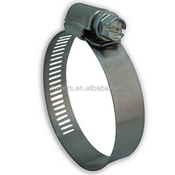 12.7mm American Type Stainless Steel Embossing Hose Clamp