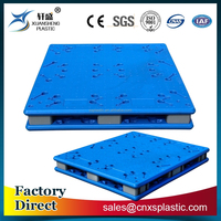 Heavy duty recycled storage double faced plastic pallet for various industries