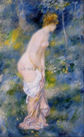 Beautiful nude woman painting Standing bather by Pierre-Auguste Renoir