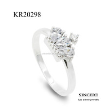 crown shaped ring in silver 925