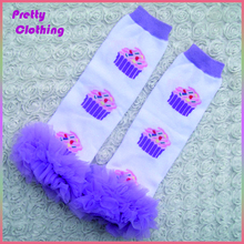 1 pair cartoon ice cream cotton socks for baby child knee pads knitting leg warmers for kids