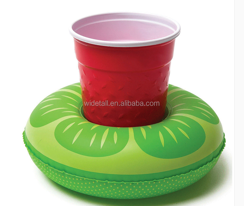 lemon floating drink holder /inflatable pvc island holder