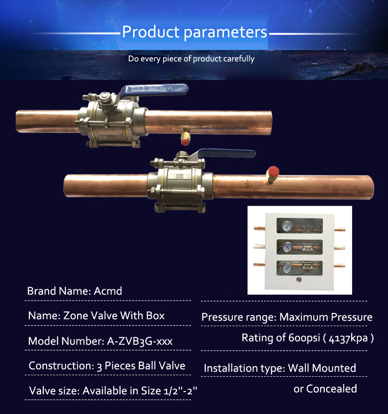 Special Procedure Ball Valve with Extensions