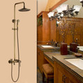 Antique Bathroom Rainfall Shower Set 8 inches Round Shower Head antique Finished outdoor shower
