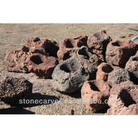 Large Decorative Volcanic Rock Planters