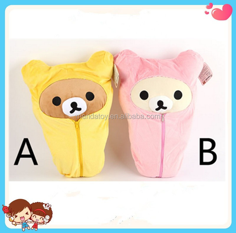 2016 Lovely Soft nursing plush toy Rilakkuma character in sleeping bag toys