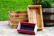 Custom Logo and Stain Color Small Wooden Crate