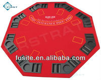 Red 2-in-1 Blackjack Poker Table Top