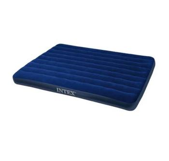 Intex 68759 Corduroy Flocked Airbed Inflatable Queen Size Mattress Air Bed