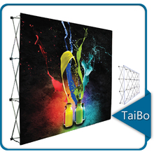 TB-LW-B1 Aluminum Square Tube Pop Up, Wall Banner Stand Back Drop Wall, Pop Up Display