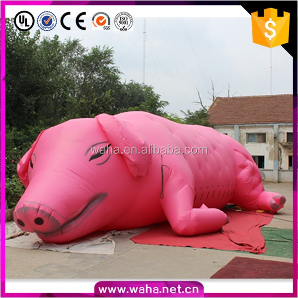 Promotional Giant Inflatable Sleeping Pig China Supplier