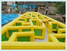 Commercial inflatable laser tag arena/inflatable water obstacle course for sale/inflatable maze