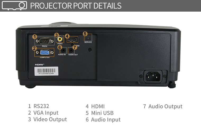 new arrival hot sale side by side 3D DLP projector with HDMI Audio input
