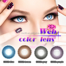 Beautiful doll eyes yearly korea big size tri color contact lens