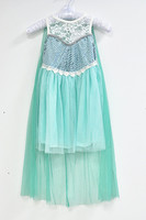 2015 In stock New arrival shining Sequins elsa girl dress girls summer dresses children casual dress