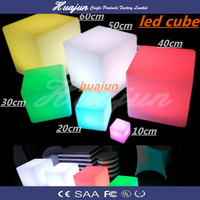 modern outdoor furniture plastic LED cube