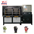 gloves process machine pressing for protective gloves