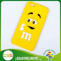 Endurable cute logo nontoxic silicone cell phone case cover