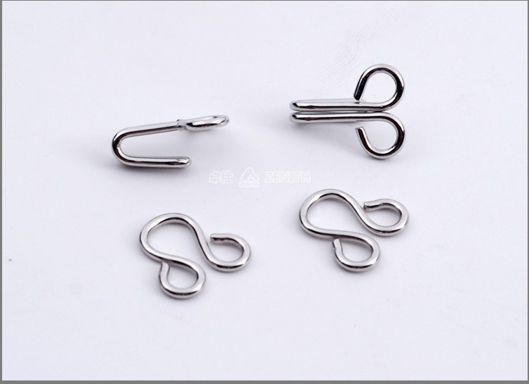 KH20104 Metal Collar Coat Hanger Wall Assist Hook and Eyes