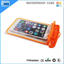 PVC Noctiluent Waterproof protective cell phone case for iphone 6 plus waterproof case