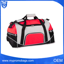 Fashion unique design multi pockets sports duffle small travel bags for men