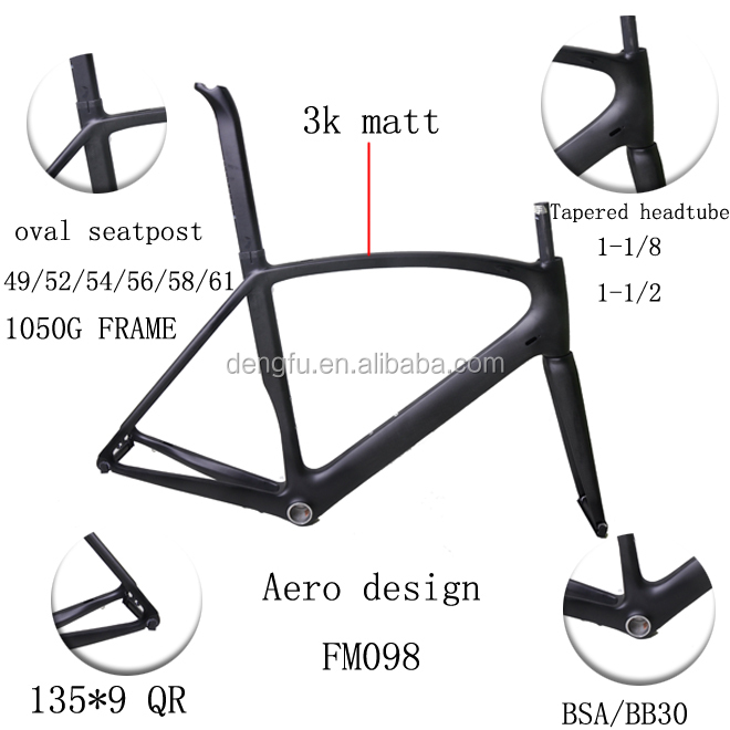 2015 dengfu latest Carbon road bike frame , New aero carbon bike frame FM098, Di2 bicycle frameset 49/51/54/56/58/61
