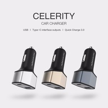 Nillkin Celerity Car Charger One USB One Type C outputs Quick charge 3.0 car charger