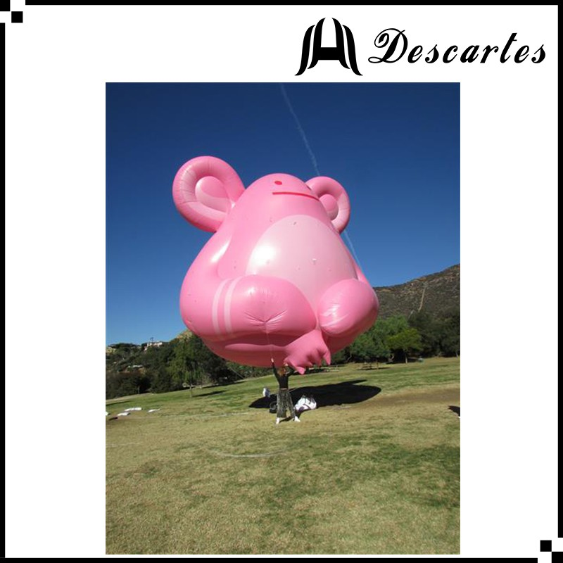 Flying giant inflatable helium pink elephant animal for sale